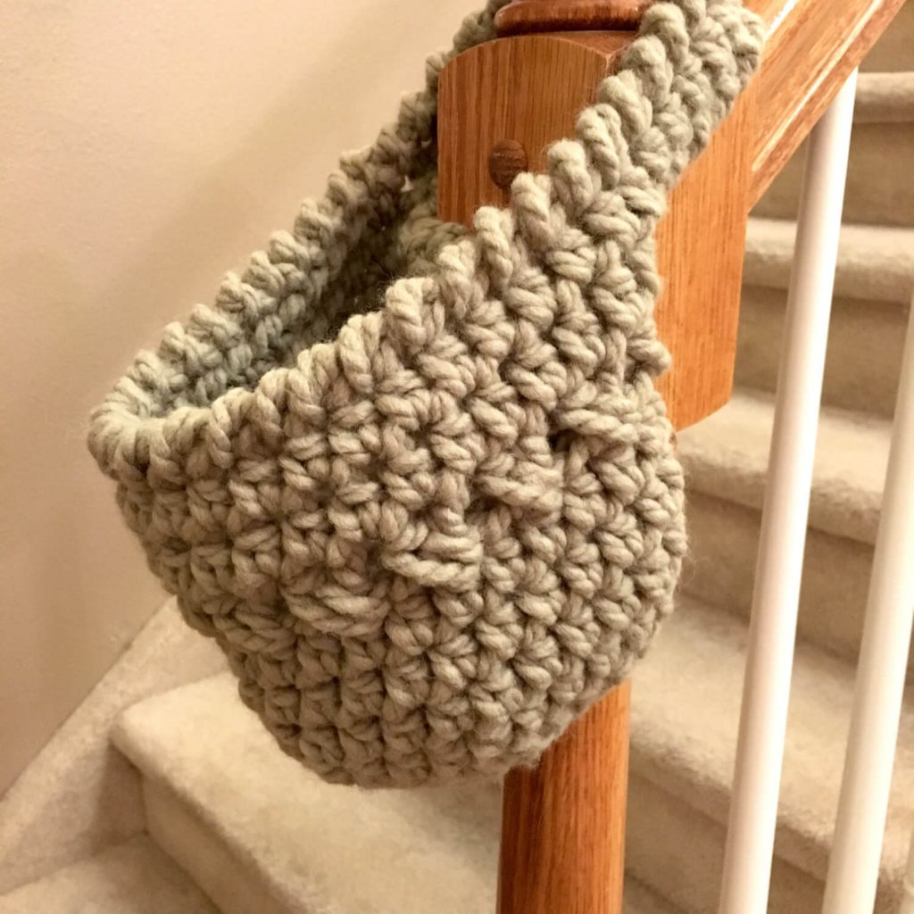 Free Crochet Pattern for Hanging Basket