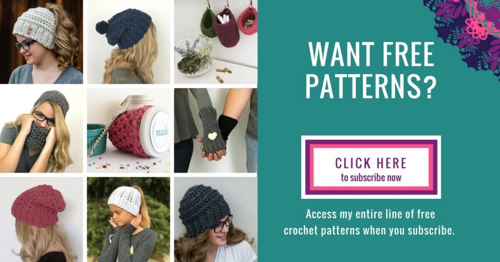 A reminder to subscribe to enjoy FREE crochet patterns