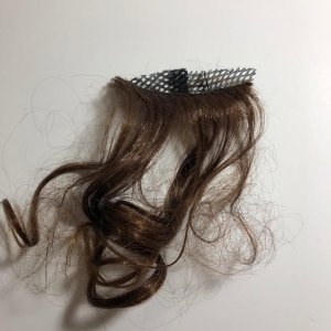 Sample of the faux hair after cutting for the Phoneytail Hat
