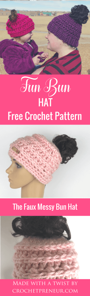 OMG, I can think of three or four people who would love one of these. A messy bun hat with fake hair for women and children who have lost their hair, having thinning hair, or hair that