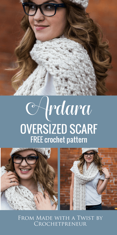 There is nothing cozier than an oversized Celtic cable scarf and this one is so easy to make. You