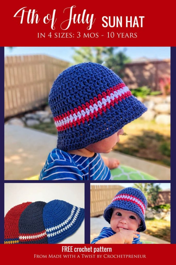 189261fb0 Super Simple Kid's Sun Hat: Free Crochet Pattern - Made with a Twist