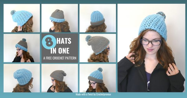Photo of 8 ways to wear the Crocheted Polly Reversible Beanie