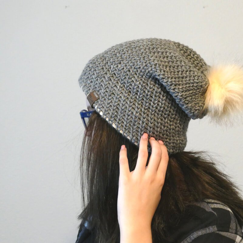 OMG This double brim knit look beanie free crochet pattern is just what I