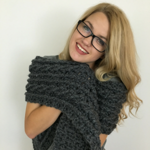 Photo of Crochet Ardara Oversized Cable Scarf