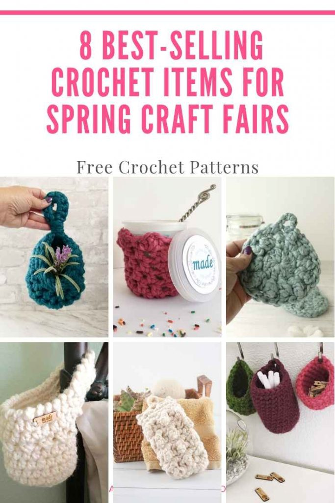 collage image of best selling craft fair crochet products