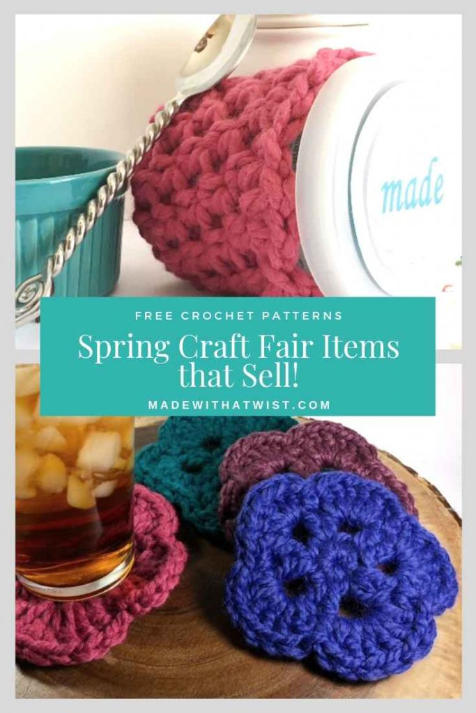 pinterest image of best selling spring craft fair items
