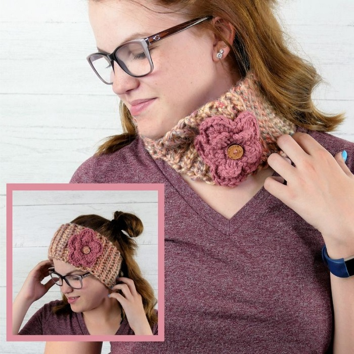 picture of everly headband cowl being worn by a woman with blonde hair