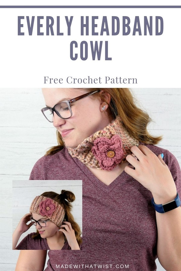pinterest image of the everly convertible two-in-one headband cowl