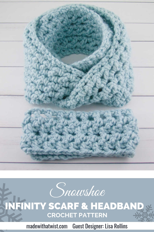 Headband And Scarf Crochet Pattern Set