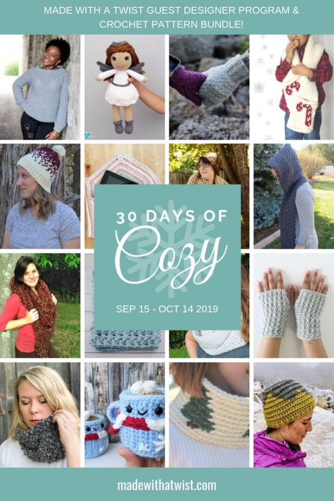 30 Days Of Cozy Guest Designer Program And Crochet Pattern Bundle