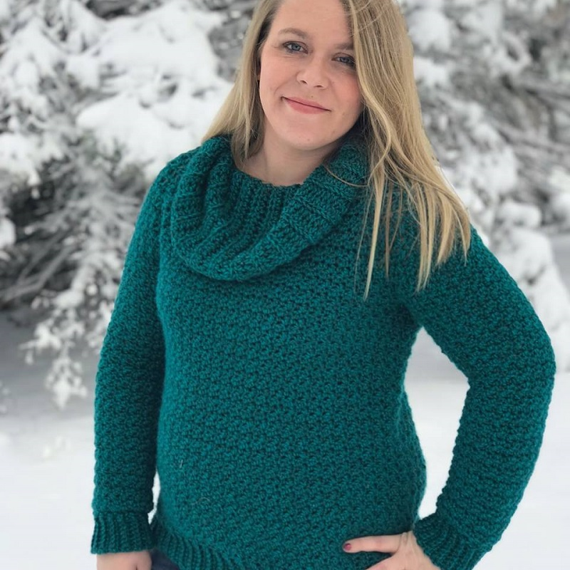 Photo of guest designer Emily Davies from Hooked Hazel