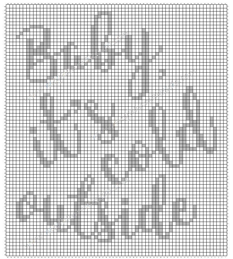 Chart to make the Baby, It's Cold Outside Graphghan FREE crochet pattern for afghan