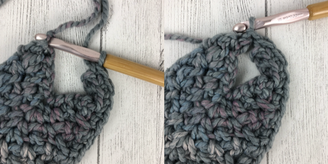 Photo tutorial on how to make the border around the scarf