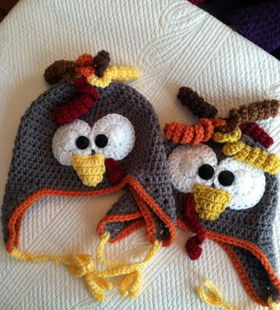 Turkey Earflap Hat - Free Crochet Pattern
