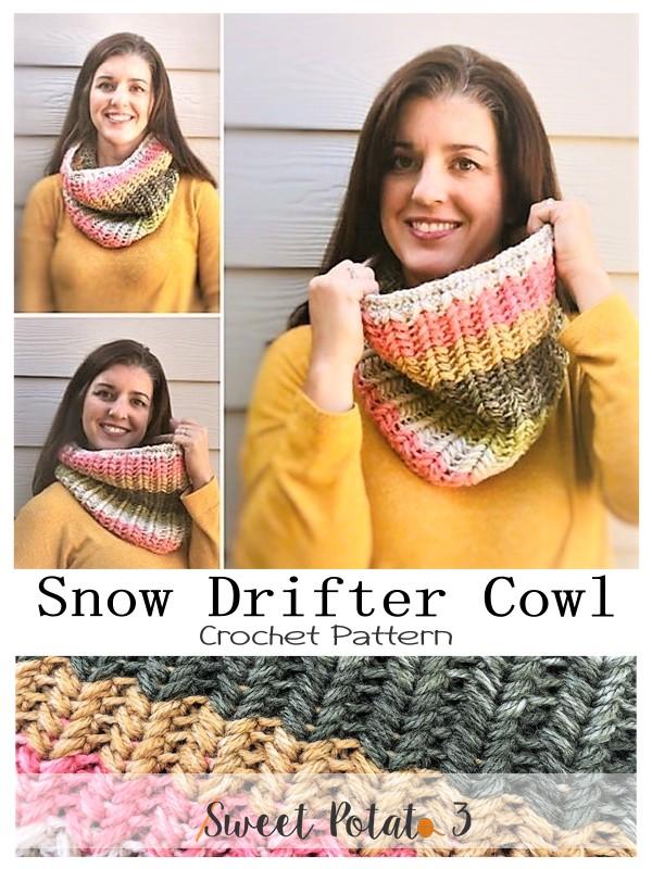 Snow Drifter Cowl - Premium Crochet Pattern
