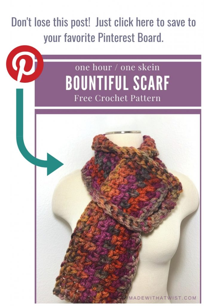 Graphic to remind you to pin this image in your crochet related Pinterest boards