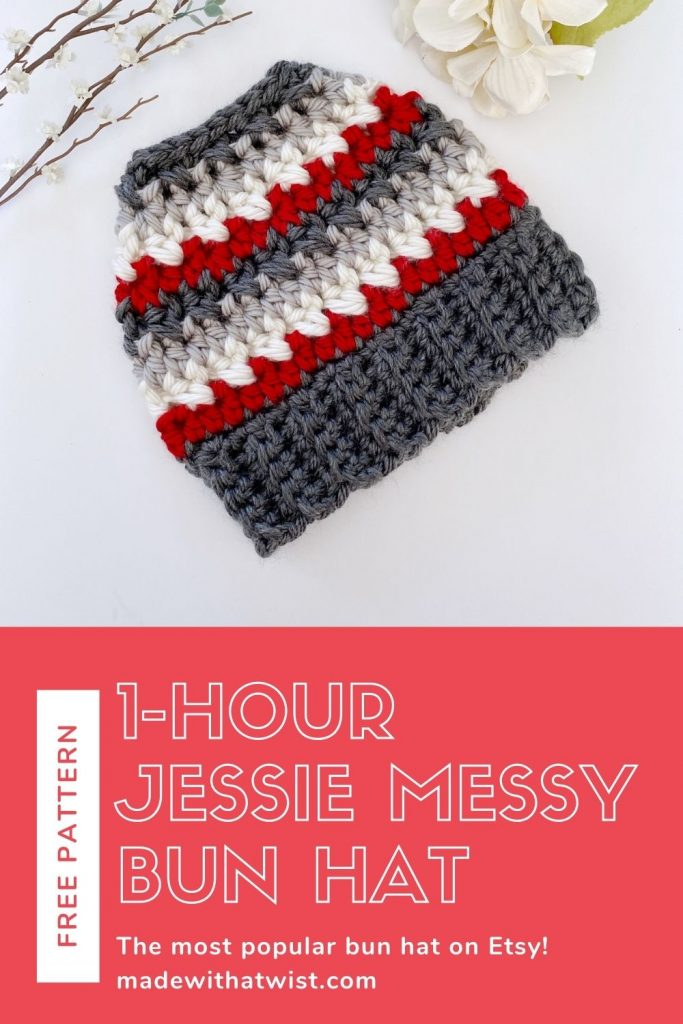 one hour messy bun hat